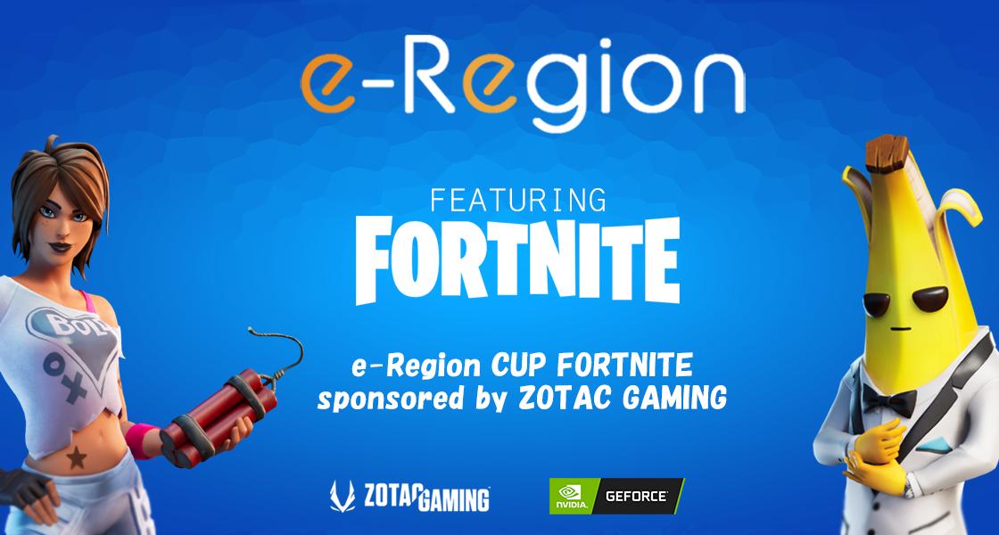 Eスポーツコミュニティ「E-REGION」主催の オンライン大会「E-REGION CUP FORTNITE」に協賛