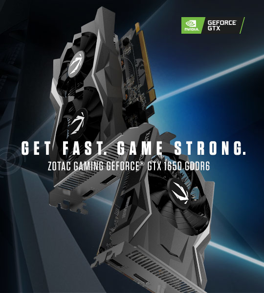 ZOTAC GAMING GeForce GTX 1650 with GDDR6 Memory