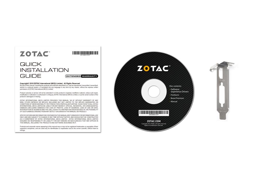 ZOTAC GeForce® GT 1030 2GB GDDR5 HDMI/DVI Low Profile