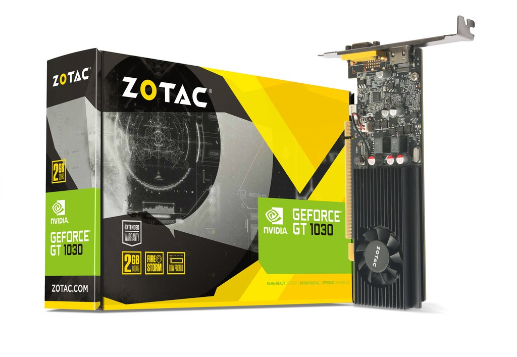 ZOTAC GeForce® GT 1030 2GB GDDR5 HDMI/VGA Low Profile