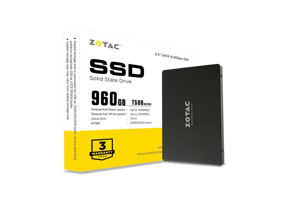 ZOTAC T500 960GB SSD